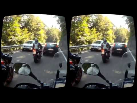 Motorcycle ride in virtual reality Oculus Rift 3D