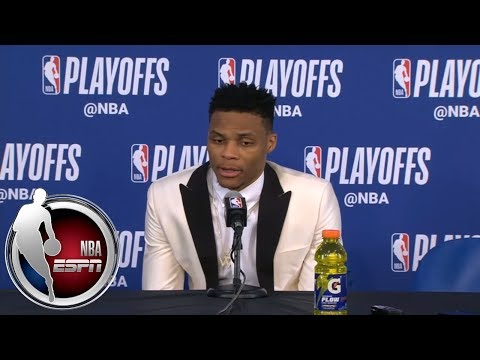[FULL] Russell Westbrook after Thunder's Game 2 loss to Jazz: 'I got what I wanted' | NBA on ESPN