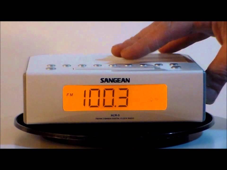 sangean rcr 5 digital am fm clock radio youtube rh youtube com sangean rcr-22 am/fm atomic clock radio manual Sangean CC Radio