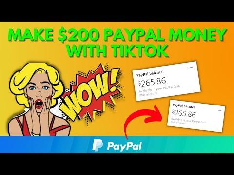 Make $200 Free PayPal Money With TikTok (Make Money Online)