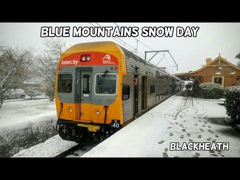 Sydney Trains Vlog 1342: Blue Mountains Snow Day - Blackheath