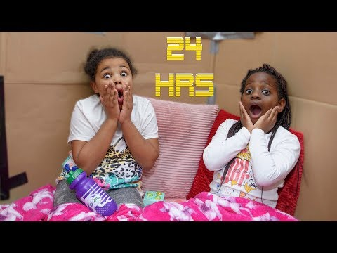 Kids Pretend Play 24 Hours in Box Fort House