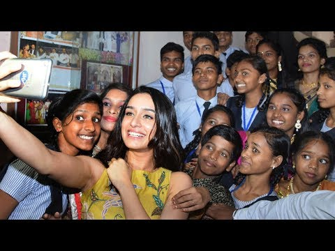 Shraddha Kapoor celebrates Children's Day at a Municipal School in Mumbai