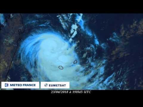 Animation satellite système FAKIR - Mascareignes - Avril 2018 (Météo France - EumetSat)