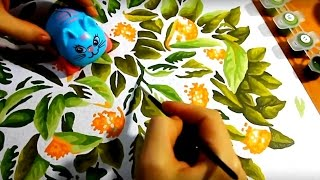Творчество для детей:Кошечка и Коровкин рисуют картину