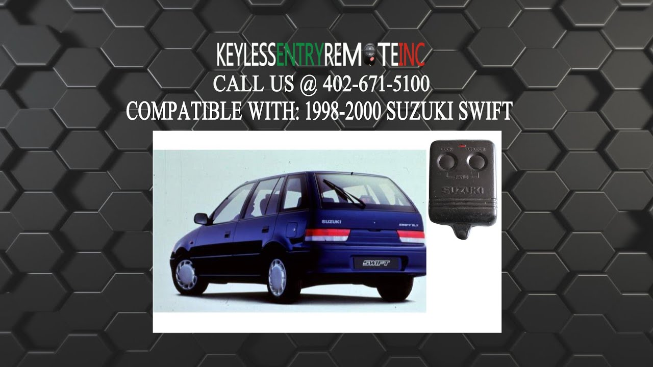 how to replace suzuki swift key fob battery 1998 1999 2000 youtube. Black Bedroom Furniture Sets. Home Design Ideas