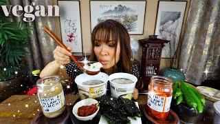 INSTANT RICE CAKE SOUP aka Tteok Gook Mukbang (채식떡국)
