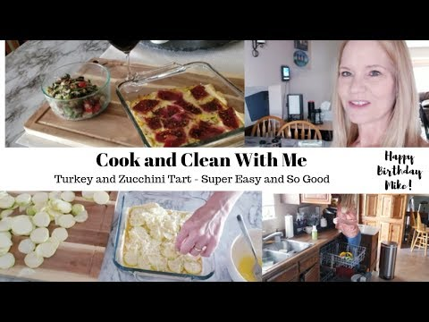 How to Make Turkey and Zucchini Tart - Cook and Clean With Me