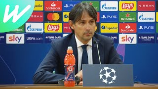 Reaction from head coach simone inzaghi after lazio's 4-1 home defeat against reigning-champions bayern munich in the 1st leg of round-of-16 2020/...