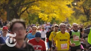 An Optical Illusion at the 2015 New York City Marathon