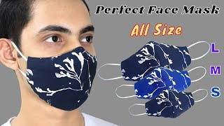 Very Easy DIY Breathable Face Mask All Size S M L Easy To Make Sewing Tutorial How To Mask