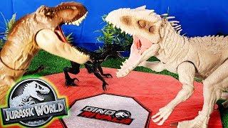 FINAL de la LIGA de COMBATE DINO RIVALS de Jurassic World con DANI y EVAN!!