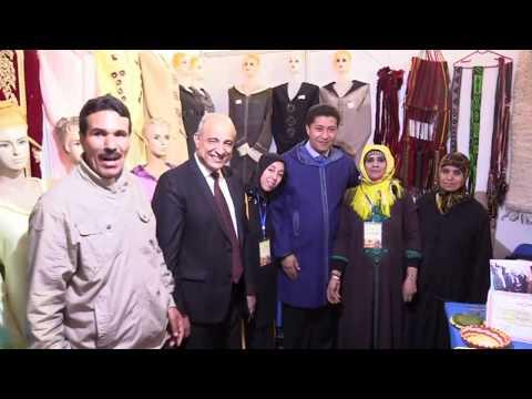 عبد النبي بيوي وادريس بوجوالة رفقة عامل اقليم فجيج في زيارة تفقدية لمعرض بوعرفة