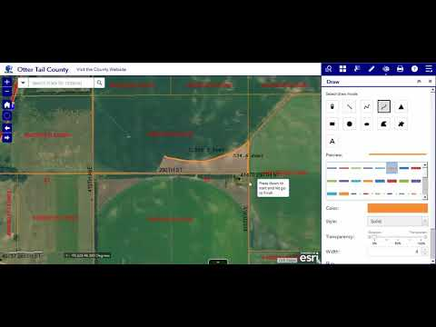 8 Draw Tool - Otter Tail County, MN GIS Web App