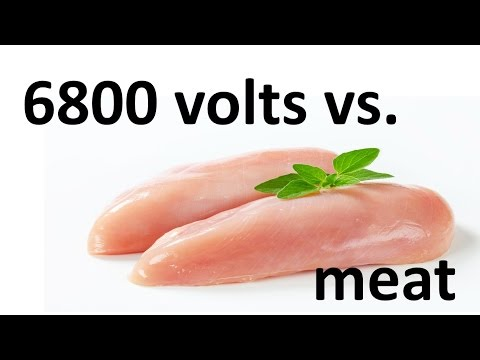 How to prepare MEAT on 6800V (3,5kW) - roasting meat with electricity