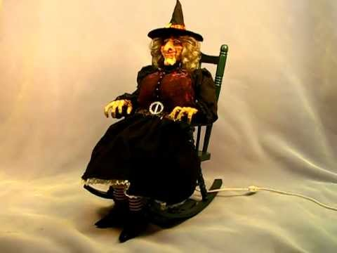 Large Size Rocking Chair Animated Witch Halloween Doll