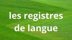 les registres de langue ou/ les niveaux de langue/langage familier,standard et soutenu/darija
