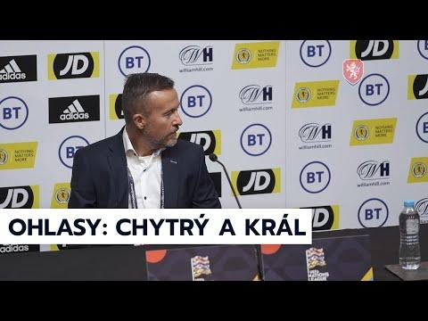 ČR A | Jiří Chytrý a Alex Král po prohře ve Skotsku