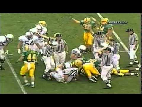 Oregon safety Chad Cota forces a fumble recovered by DE Troy Bailey in 1995 Rose Bowl