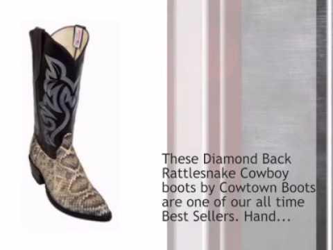 548750a633c Cowtown Diamond Back Rattlesnake Boots - J toe
