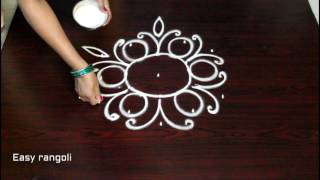 muggulu designs with 5 to 3 interlaced dots - rangoli art designs - simple kolam