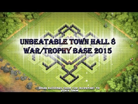 """UNBEATABLE TOWN HALL 8 WAR/TROPHY BASE"" 