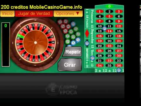 Ruleta Europea 200 creditos GRATIS a Casino epoca1919