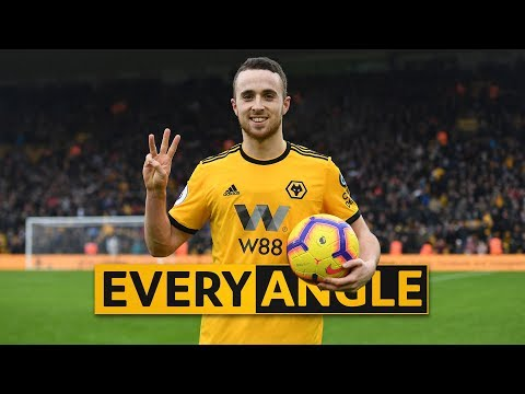 Jota's hat-trick goal v Leicester City | Every Angle