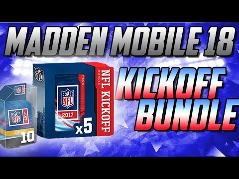NFL KICKOFF BUNDLE!-GETTING ALL KICKOFF PLAYERS!-Madden Mobile 18