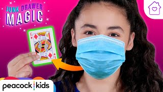 Card Hidden in Mask | Kids Magic at Home | JUNK DRAWER MAGIC #stayhome #withme
