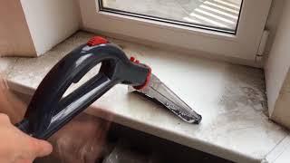 Как помыть окна моющим пылесосом Arnica Hydra Rain Plus?