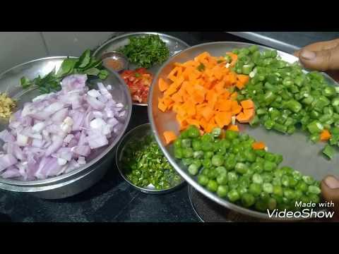 Vegetables upma in Kannada