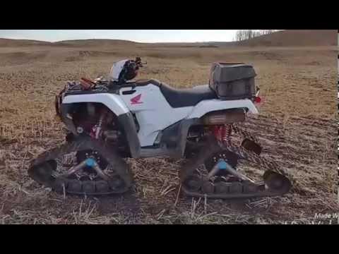 2016 honda rubicon DCT on tracks - YouTube