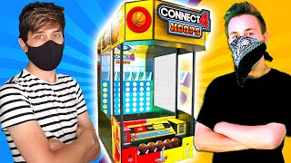 $100 Connect 4 Hoops Arcade Game Challenge!