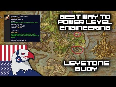 Power Leveling Engineering Legion 7.2 WoW - Leystone buoy (Best Way)