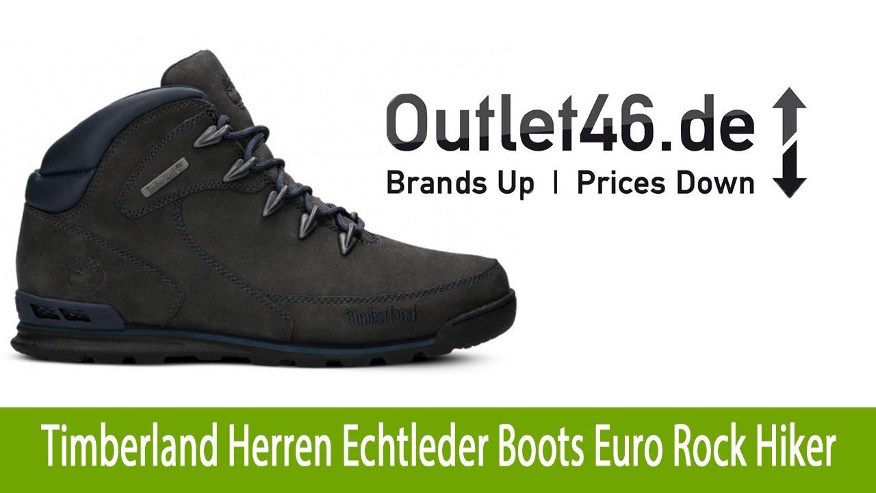 Timberland Herren Echtleder Boots kaufen Euro Rock Hiker Anthrazit |