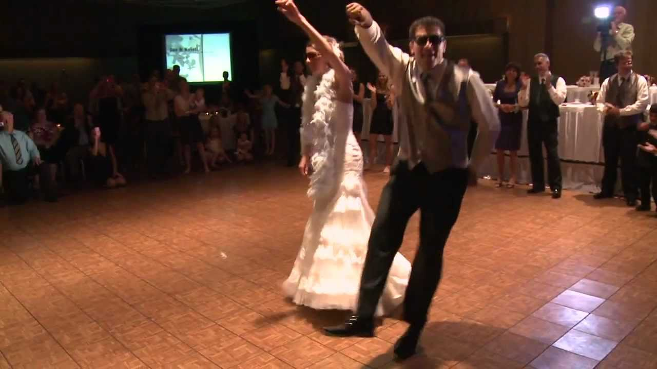 Surprise Choreographed First Dance Wedding Fun Grand March Entrance