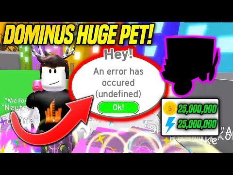 HE WAS TRADING ME THE DOMINUS HUGE PET IN PET SIMULATOR... BUT THIS HAPPENED! *EMOTIONAL* (Roblox)