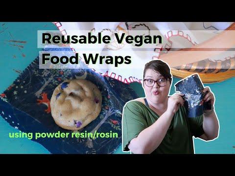 DIY Vegan Food wraps with Powder Resin