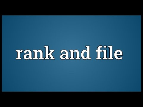 Rank and file Meaning