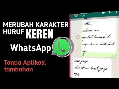 Cara Membuat Tulisan Keren di WhatsApp.