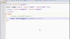 01 - HTML Form Handling - Text Box use with PHP - Part 1