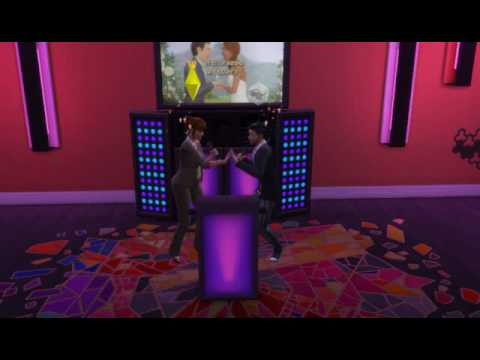 Sims 4 Karaoke Duet - cute and painful