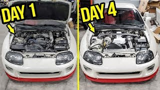 Rebuilding (And Heavily Modifying) A Stock 200,000 Mile Toyota Supra In 4 Days thumbnail