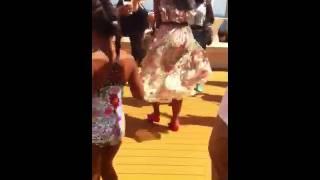 La Mimi having fun on the cruise