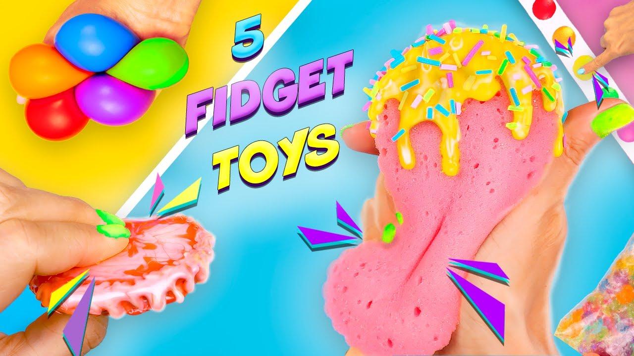 5 Необычных Идей сделать Антистресс своими руками Сквиш, Поп ит и др… Pop it fidget toys