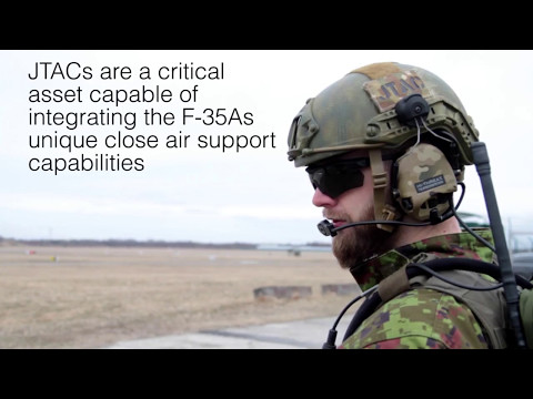 Estonian and U.S. SOF Joint Terminal Attack Controllers (JTAC) train alongside F-35s