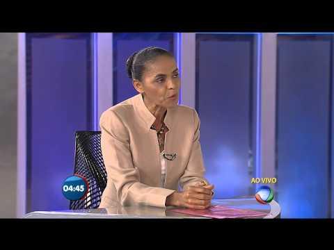 Marina Silva no Jornal da Record
