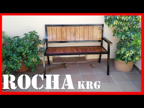 BANCO DE HIERRO Y MADERA // DIRESTA steel & wood bench // homemade