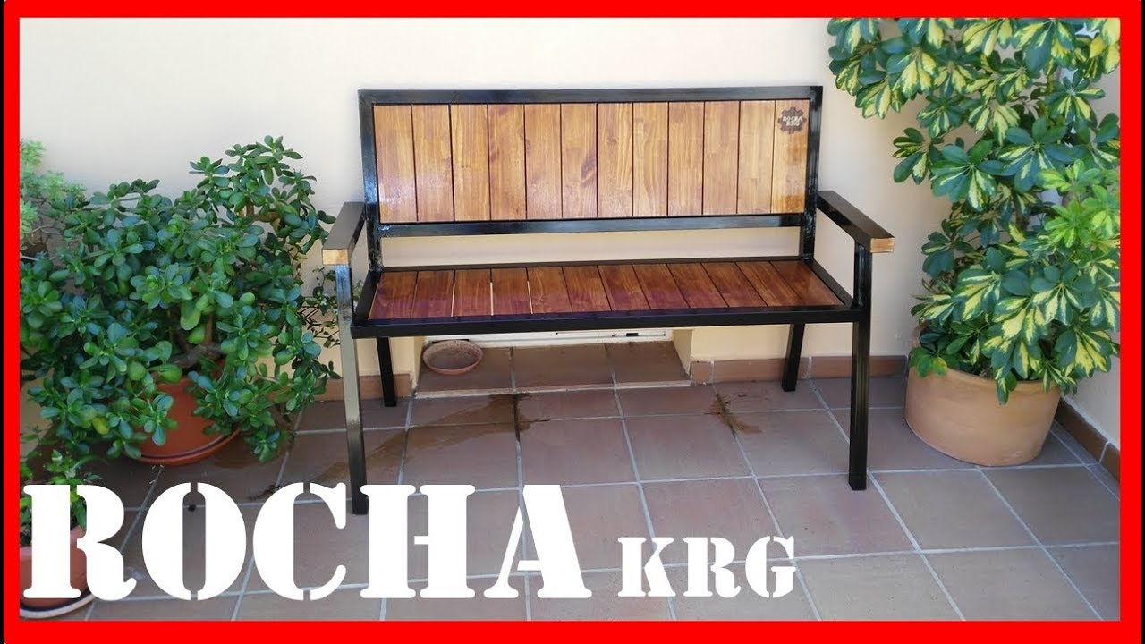 BANCO DE HIERRO Y MADERA // DIRESTA steel & wood bench // homemade ...